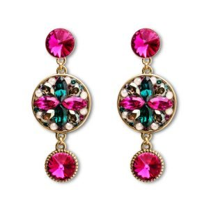 Long Fuchsia Earrings