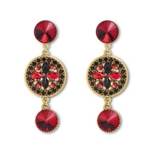 Long Scarlet Earrings