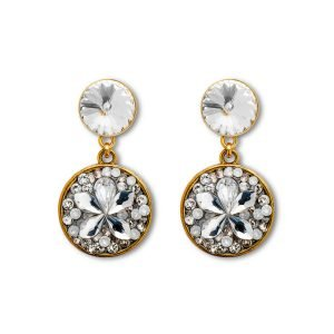 Short Crystal White Earrings (full)